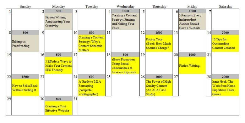 Simple Content Calendar